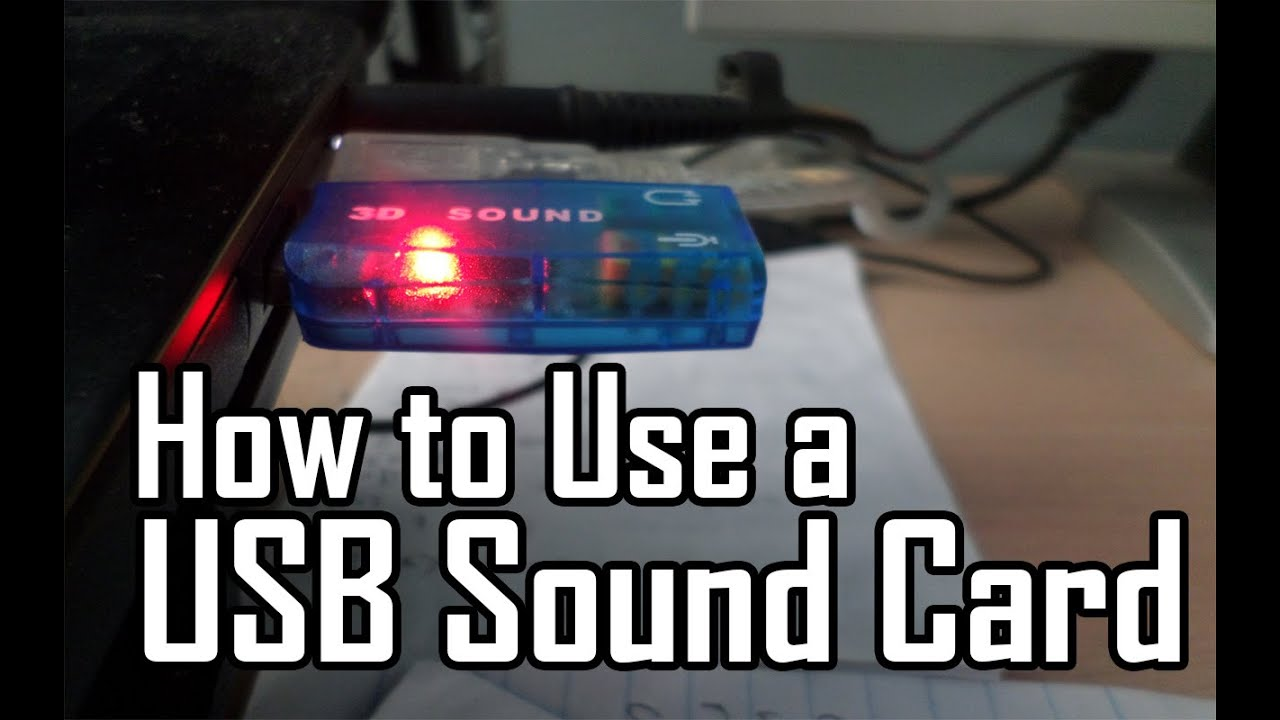 How to Use a USB Sound Card - YouTube