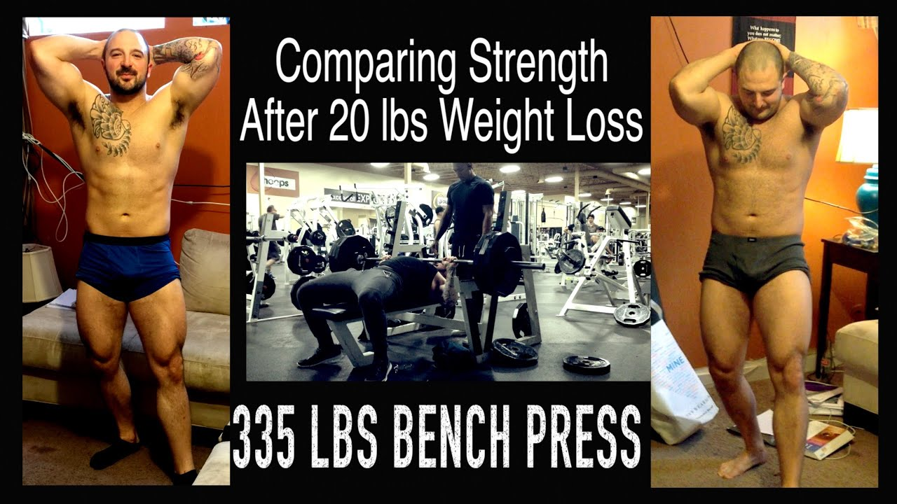 Strength Comparison Pre Post Weight Loss 335 Lb Bench Press Me 241 Vs Me 221 Lbs Youtube