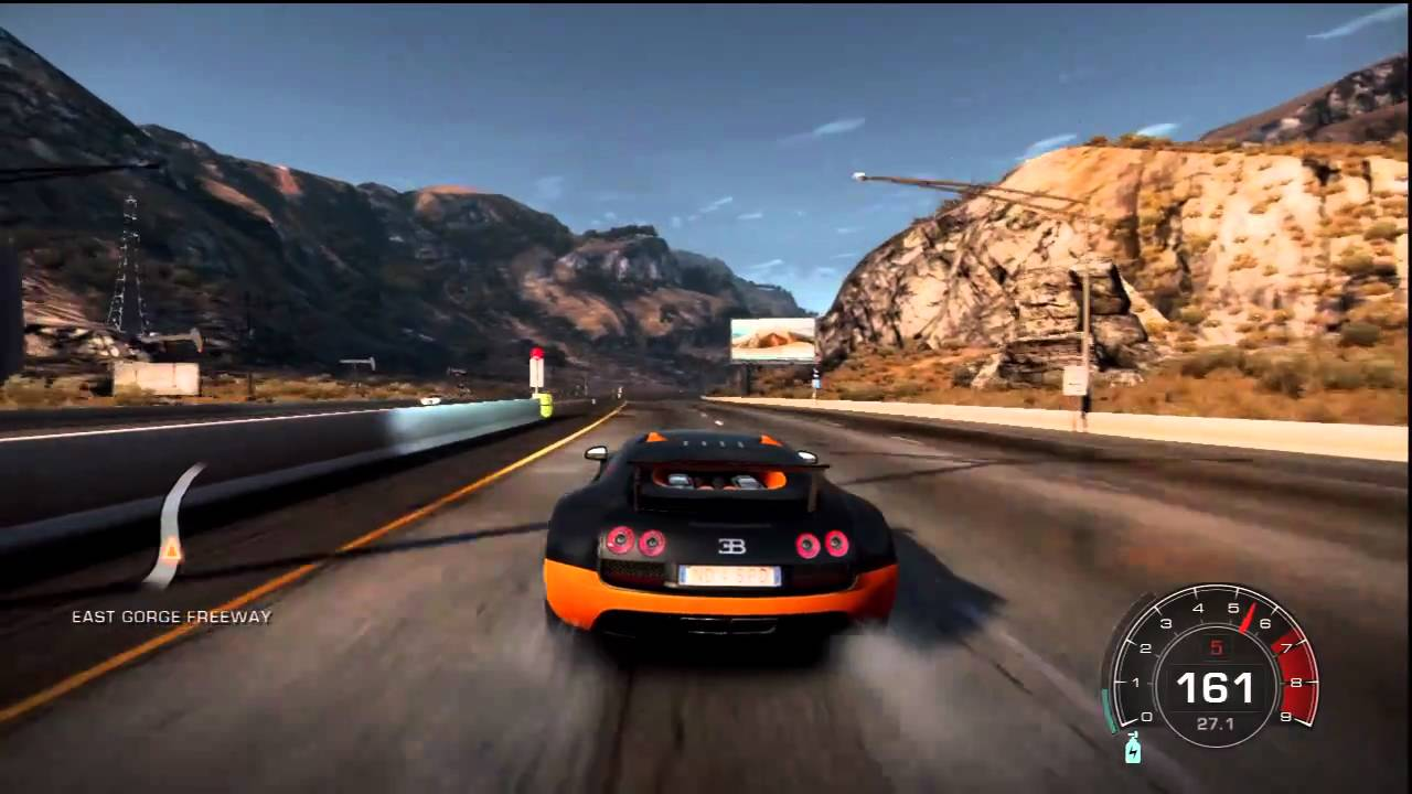 need for speed hot pursuit bugatti veyron supersport 16 4 258mph speed run youtube. Black Bedroom Furniture Sets. Home Design Ideas