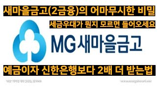 예금 이자 가장 많이 받는 법(feat. 새마을금고 세…