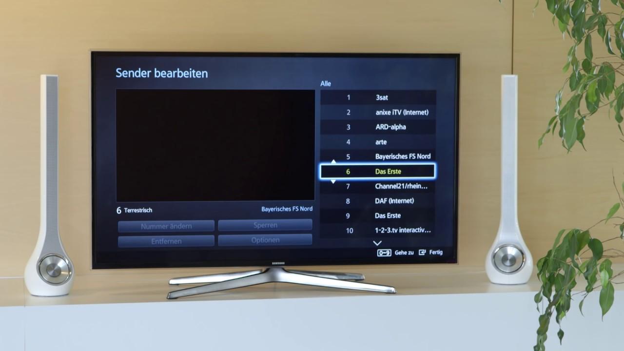 Senderliste bei Samsung-Fernsehern bearbeiten und sortieren