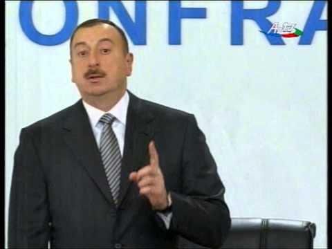 """Ali Evsen with the president of Azerbaijan Republic Ilham Aliyev in """"State Program 2009"""""""
