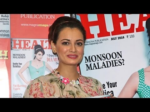 Dia Mirza Unveiling The Cover Of Health & Nutrition   Full Video