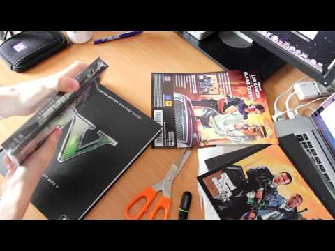 GTA V Special Edition & Limited Edition Strategy Guide Unboxing