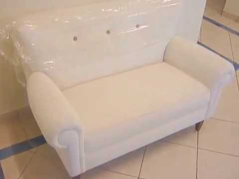 Sofa blanco 2 cuerpos peque o para mini departamento - Sofas rinconeras pequenos ...