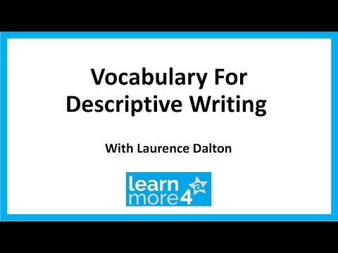 Vocabulary for Descriptive Writing