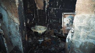 Последствия пожара дома на Олимпийской
