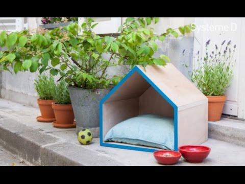 Fabriquer une niche pour chien en palette pictures to pin - Niche pour chien en palette ...
