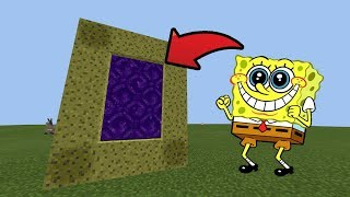 How To Make a Portal to the SpongeBob DIMENSION in Minecraft Pocket Edition