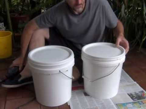 Homemade bokashi bucket
