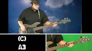 Bass Guitar Tutorial - Blue Sky Challenge
