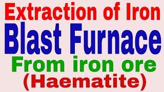 Extraction of Iron (haematite) by blast furnace (in hindi): Metallurgy