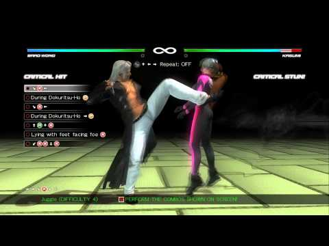Dead or Alive 5: Last Round - Brad Wong Combo Challenge [60 FPS]