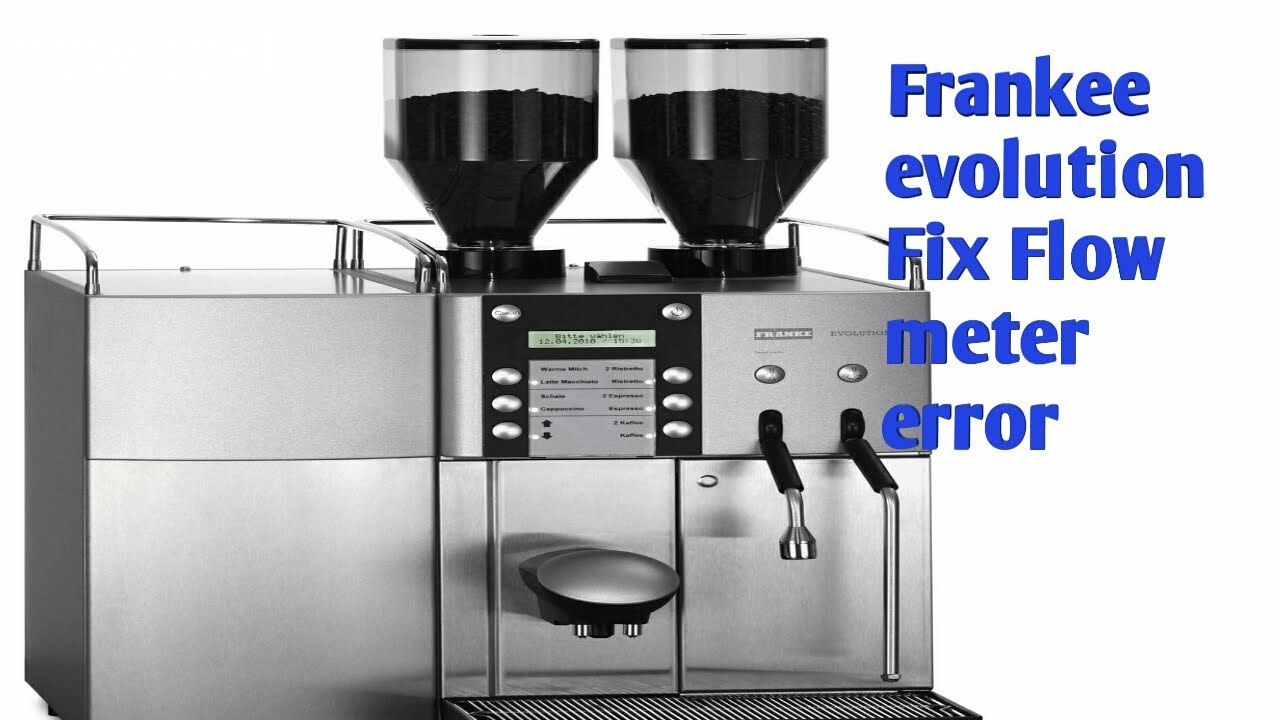 how to fix flow meter error in franke evolution youtube rh youtube com Franke Super Automatic Espresso Machine Franke Coffee Machine Red Writing