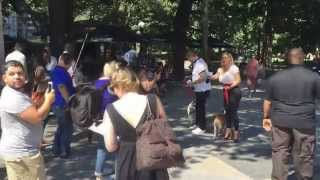 Ice T TV shoot in Central Park near Trump International Hotel and Columbus Circle