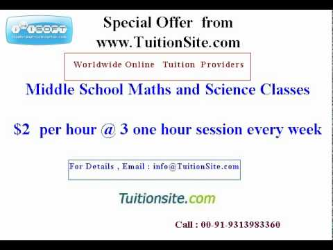 Online Tuitions at most affordable Price from TuitionSite.Com