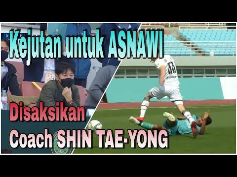 Kejutan Untuk ASNAWI Disaksikan Langsung Coach SHIN TAE-YONG || ANSAN GREENERS Vs JEONNAM DRAGONS
