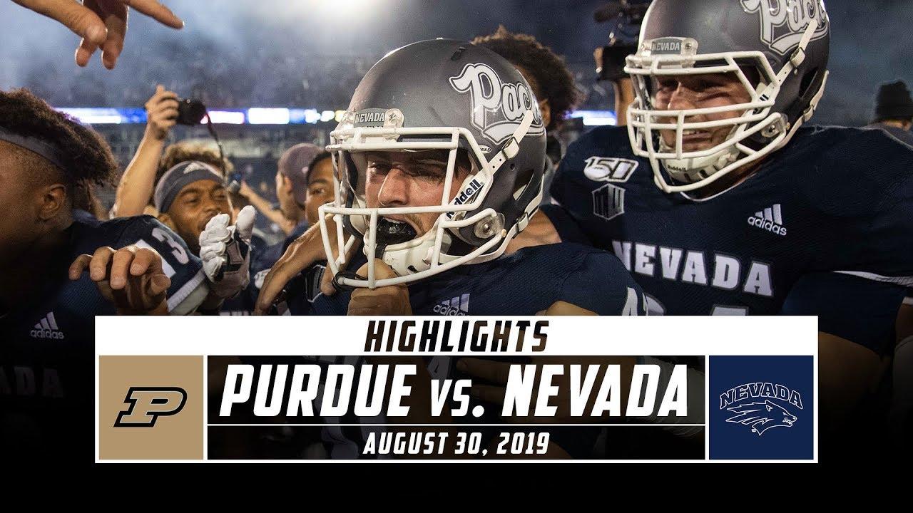 Purdue vs  Nevada Football Highlights (2019) | Stadium