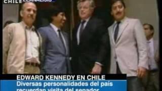 Obituario   La visita de Edward Kennedy a Chile en 1986