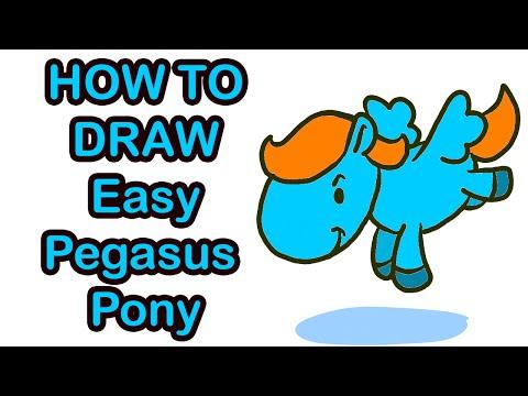 สอนวาดภาพระบายสีการ์ตูนม้าบินแบบง่ายๆ