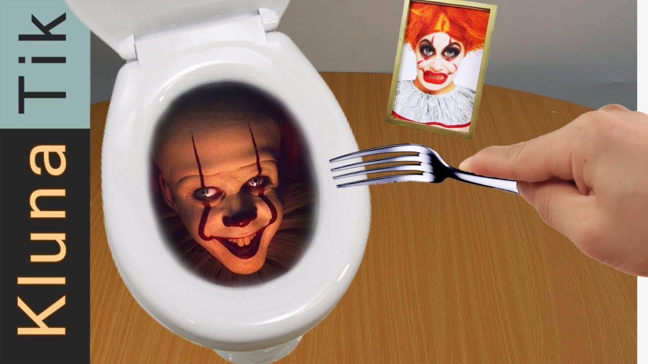 Klunatik eating IT Pennywise for dinner! ASMR food MUKBANG - Kluna Tik's Fan funny meal
