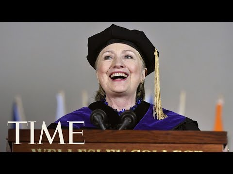 Download Youtube: Hillary Clinton Threw Shade At President Trump At Wellesley's Graduation | TIME