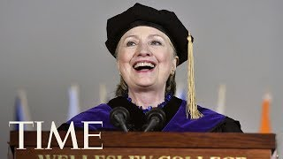 Hillary Clinton Threw Shade At President Trump At Wellesley's Graduation | TIME