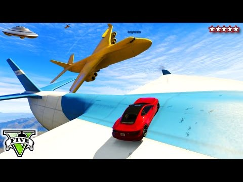 GTA 5 Online BIG FAT YELLOW CARGOPLANE Sandbox!!! - Funny Moments Yellow BANANA CARGOPLANE GTA 5