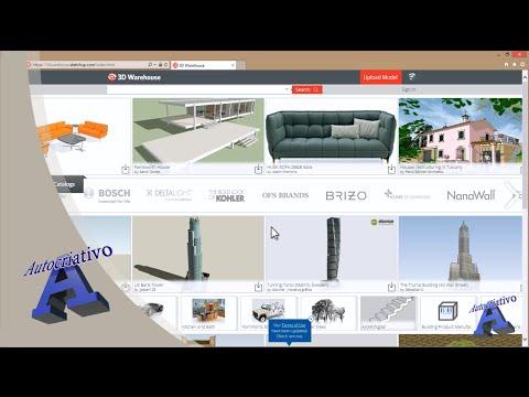 Como utilizar o 3D Warehouse no SketchUp 8 Free - Autocriativo from YouTube · Duration:  6 minutes 21 seconds