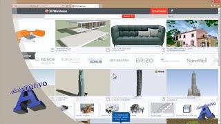 Como utilizar o 3D Warehouse no SketchUp 8 Free - Autocriativo