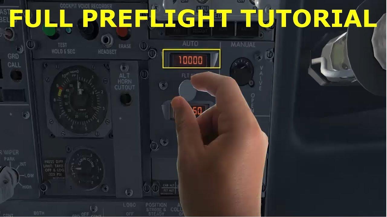 PMDG 737 NGX FULL TUTORIAL - PREFLIGHT CHECKLIST IN DETAIL