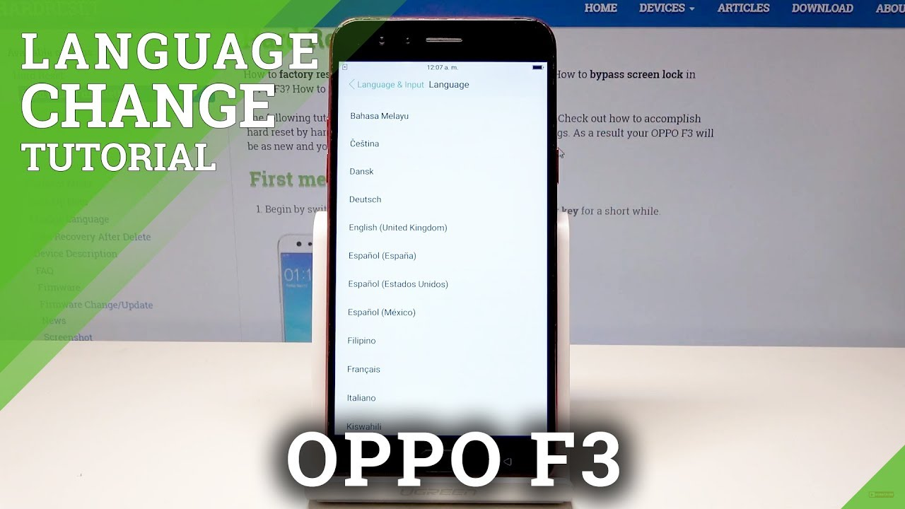 How to Change Language of OPPO F3 - Language Settings in OPPO Mobiles