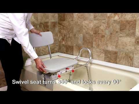 77762 - Tub-Mount Swivel Sliding Bath Transfer Bench by Eagle Health Supplies