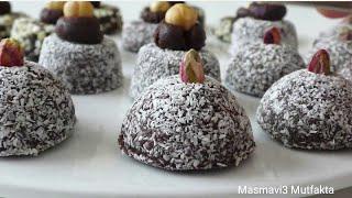 3 Malzemeli Çikolatalı BROWNİE tarifi-Fırın gerekmiyor-Pratik+Lezzetli-Masmavi3Mutfakta