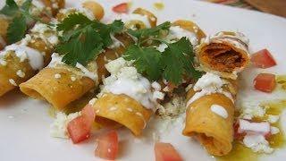 Taquitos de Papa con Chorizo (También pueden ser Vegetarianos)