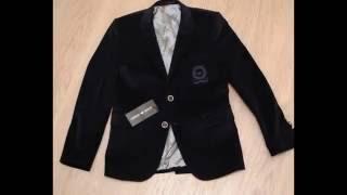 Модный стильный брендовый синий велюровый пиджак для мальчика(, 2016-06-03T06:53:12.000Z)