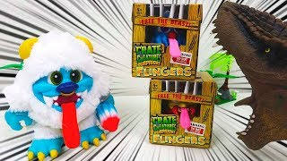 Novo Mini Crate Creatures Surprise Flingers Monstrinho Que Solta Pum
