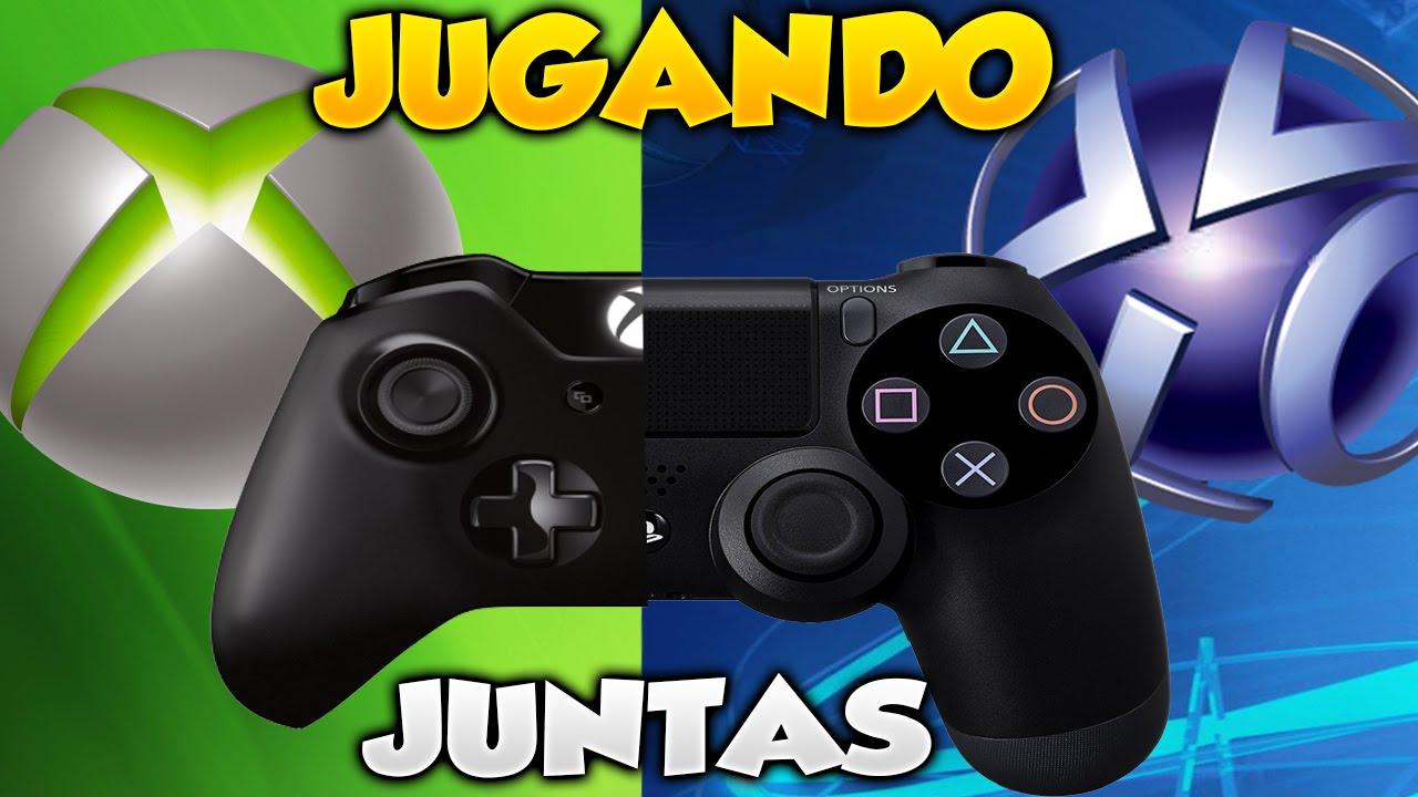 Playstation 4 Y Xbox One Jugando Juntos Online Juego