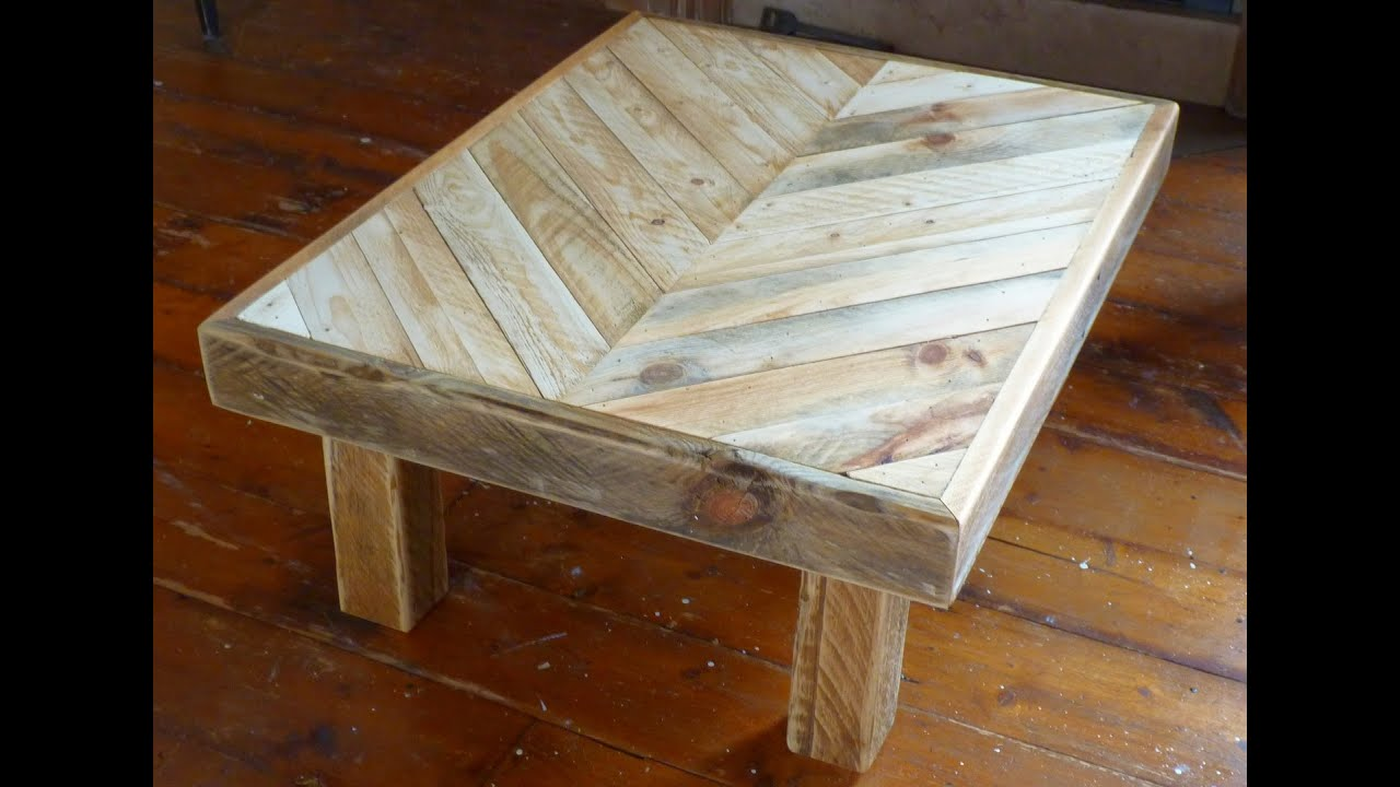Tweakwood making a coffee table out of recycled pallet wood youtube - How to make table out of wood pallets ...