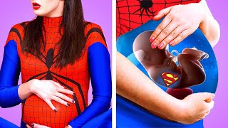 PREGNANT SUPERHEROES || What If Superheroes Were Pregnant! Funny Pregnancy Situations by Kaboom!