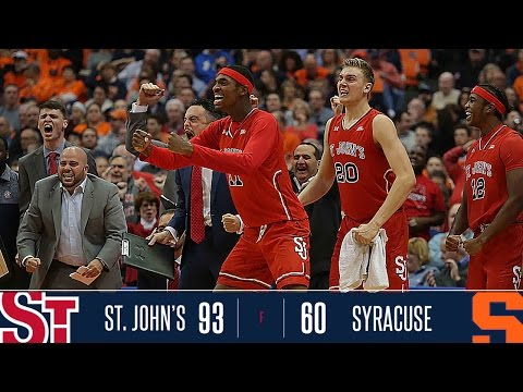 Highlights: St. John's 93, Syracuse 60
