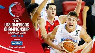 Argentina v Chile - Group Phase - Re-Live (ENG) - FIBA U18 Americas Championship 2018