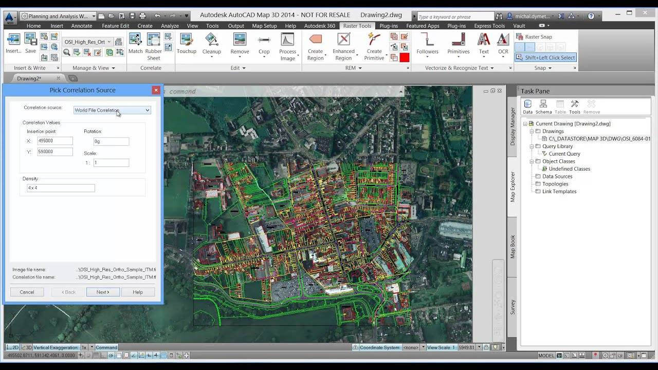 autocad map 3d autodesk autocad raster design youtube