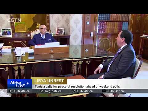 Tunisia calls for peaceful resolution in Libya ahead of weekend polls
