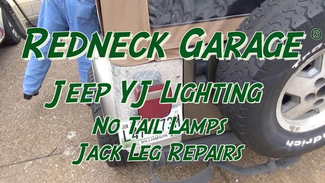 hight resolution of yj wrangler no tail lights wiring gremlin jack leg repairs youtube 1995 jeep yj tail light wiring diagram jeep yj tail light wiring