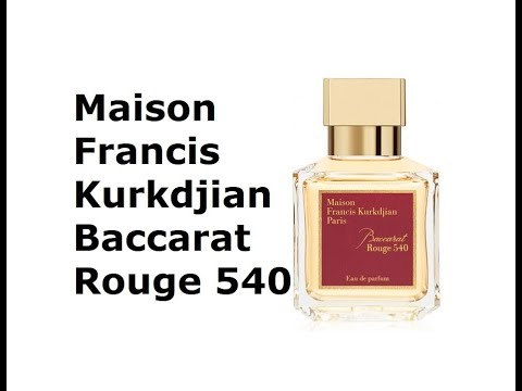 Maison Francis Kurkdjian Baccarat Rouge 540 Cinemapichollu