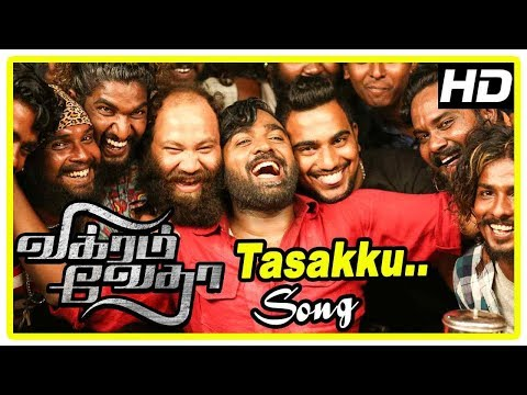 Vikram Vedha Movie Scenes | Tasakku Song | Hareesh invest in Kathir's business | Vijay Sethupathi