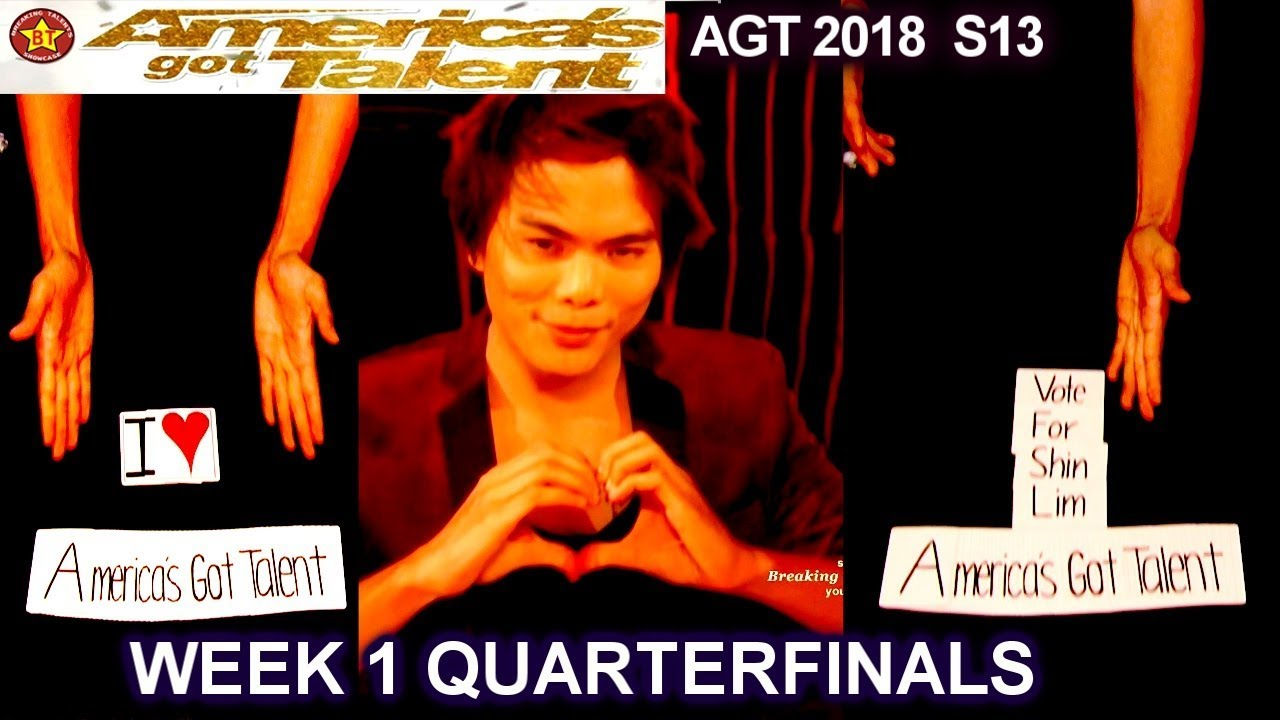 Shin Lim Card Magician EPIC MAGIC!! Quarterfinals 1 America's Got Talent 2018 AGT