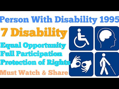 Person With Disability Act 1995 | PWD Act 1995 | Learn With Educational Hub | Istiyak Khan