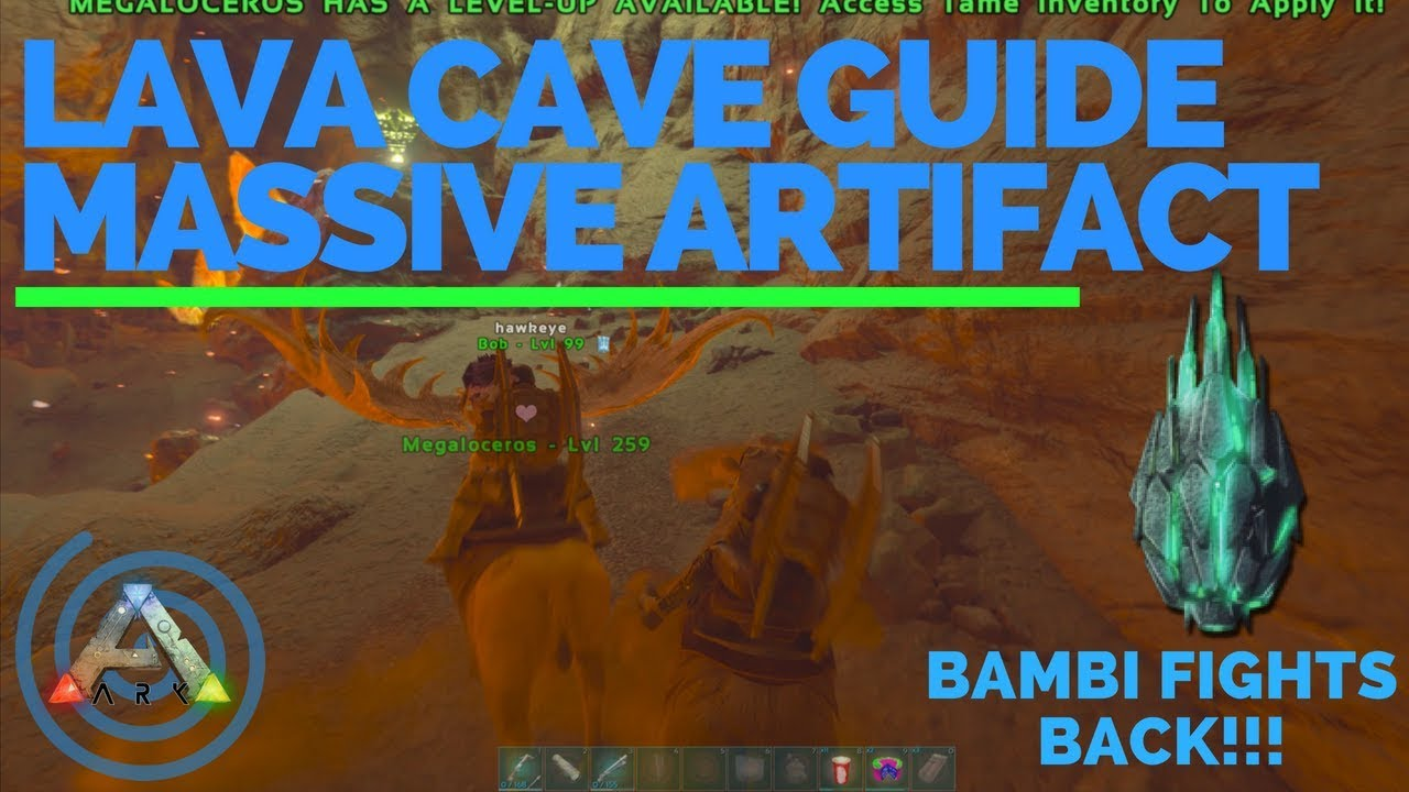 Artifact of the Massive: Ark Island Lava Cave Walk Through - Loot Crates -  Location and Guide